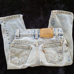 Vintage Little Levi's 550 Jeans Boys 3 USA Orange